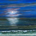 Moonlight Fantasy – Art & Poem – Moonbeams enchant the water