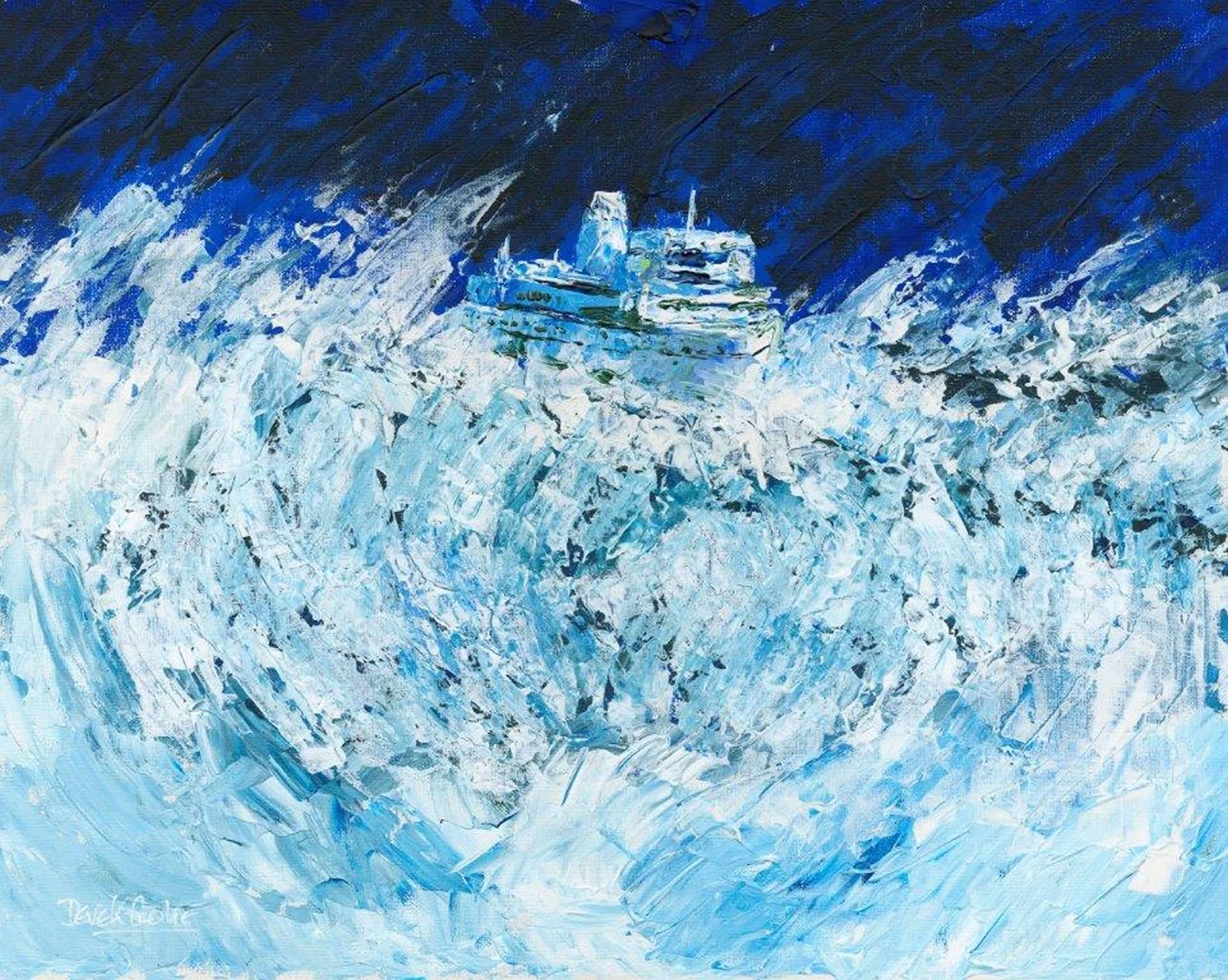 Art Prints Gallery - Not All Plain Sailing - Shepperton Artist Derek Cooke