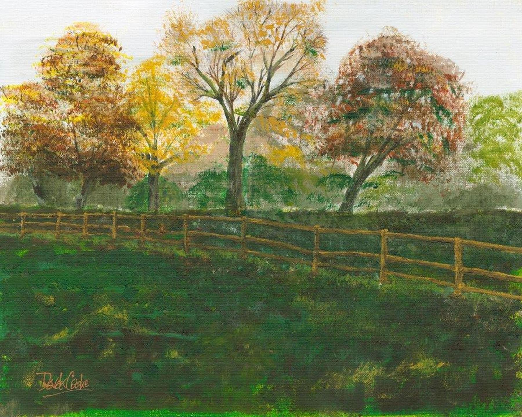 Art Prints Gallery - Shamrocks Field - Shepperton Artist Derek Cooke