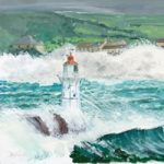 Art Prints – Lighthouse and rough seas in Stormy Weather