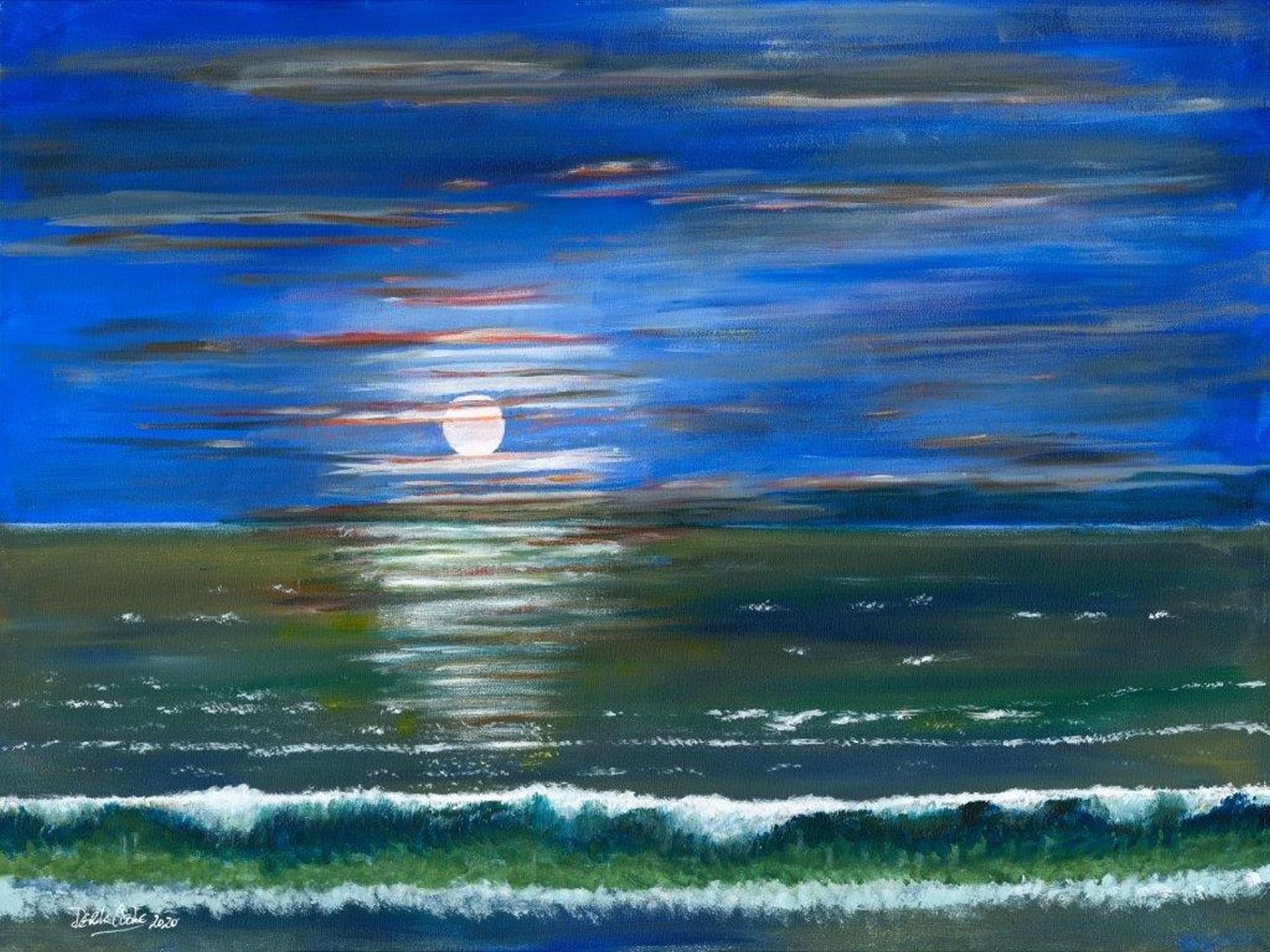 Art Prints - Moonlight Renaissance - Sea at Night