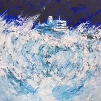 Art Prints – Boat on Rough Stormy Sea – Not All Plain Sailing