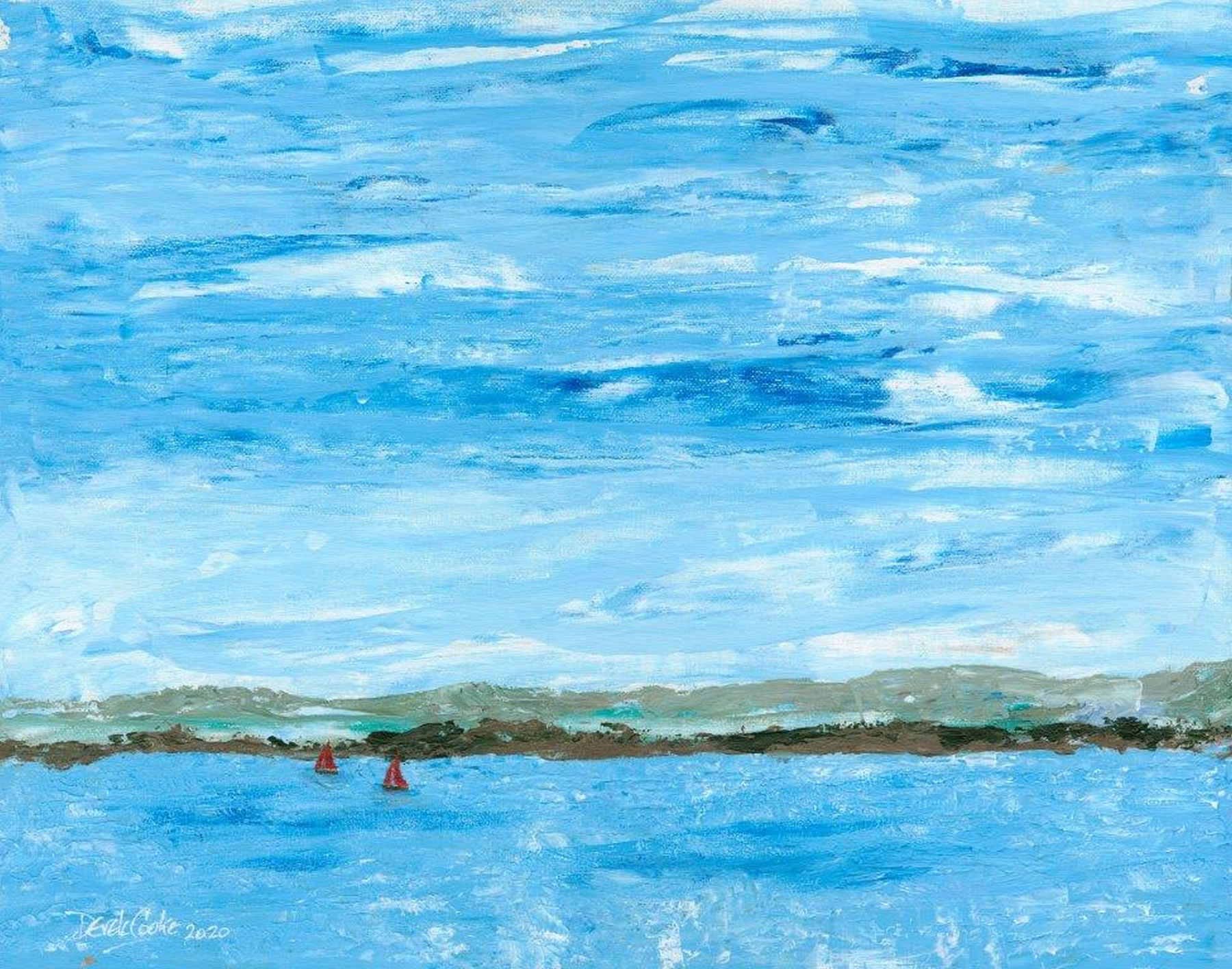 Art Prints - South Downs from the Sea painting