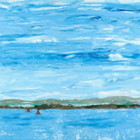 Art Prints – South Downs from the Sea painting
