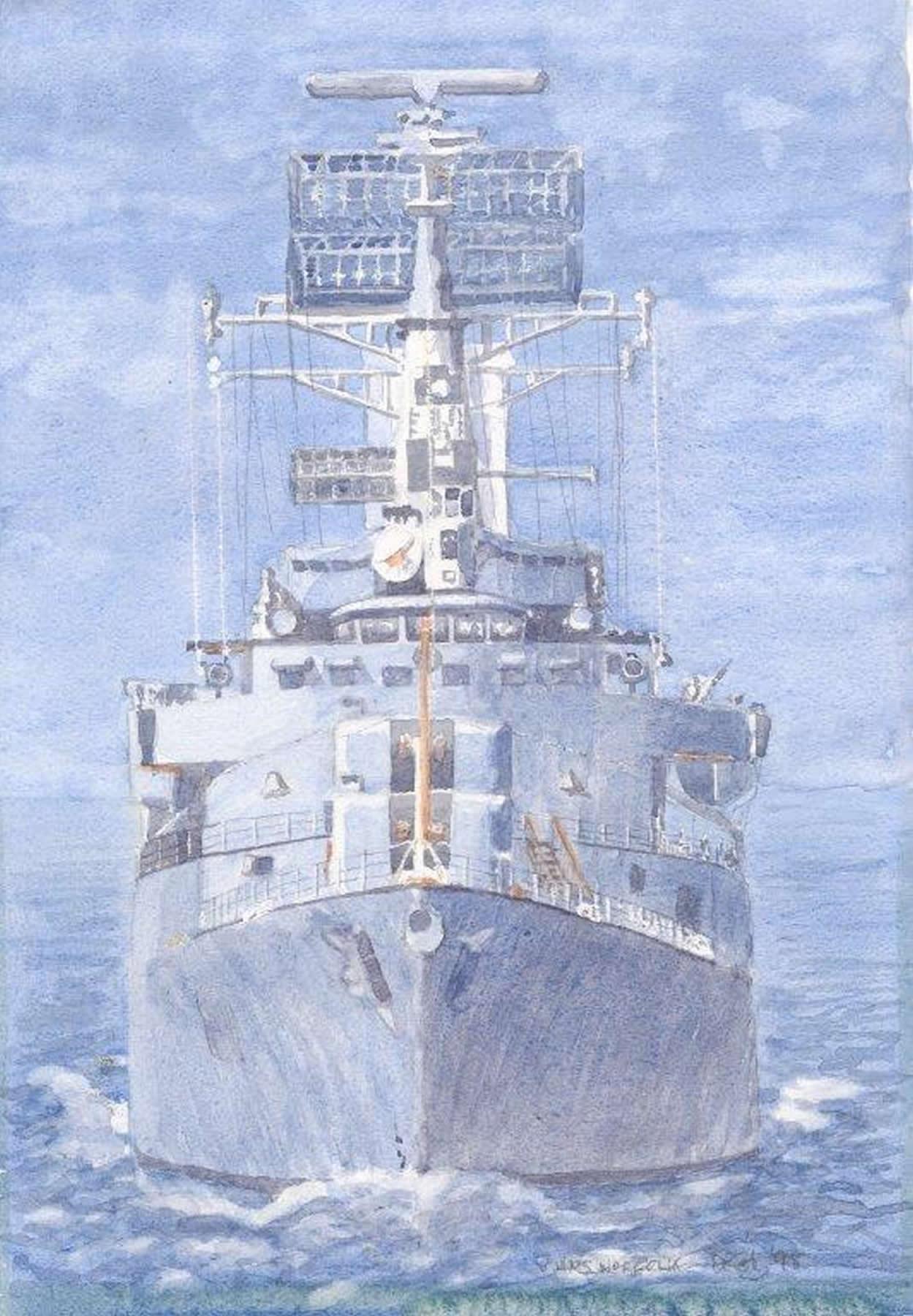 HMS Norfolk - Ship Fine Art Print