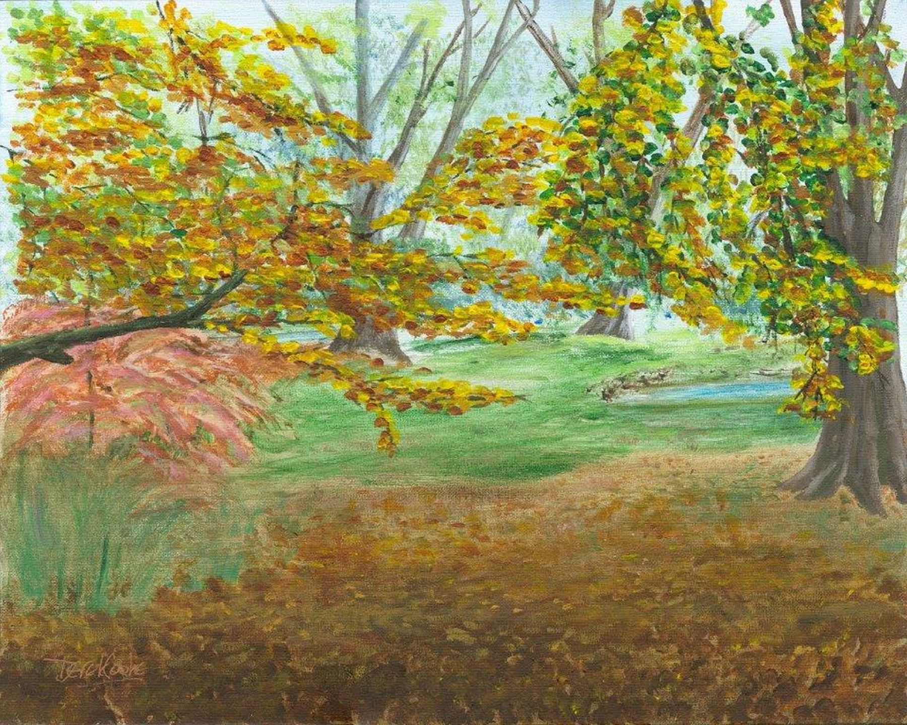 Woodlands Art Print - Peaceful Glade