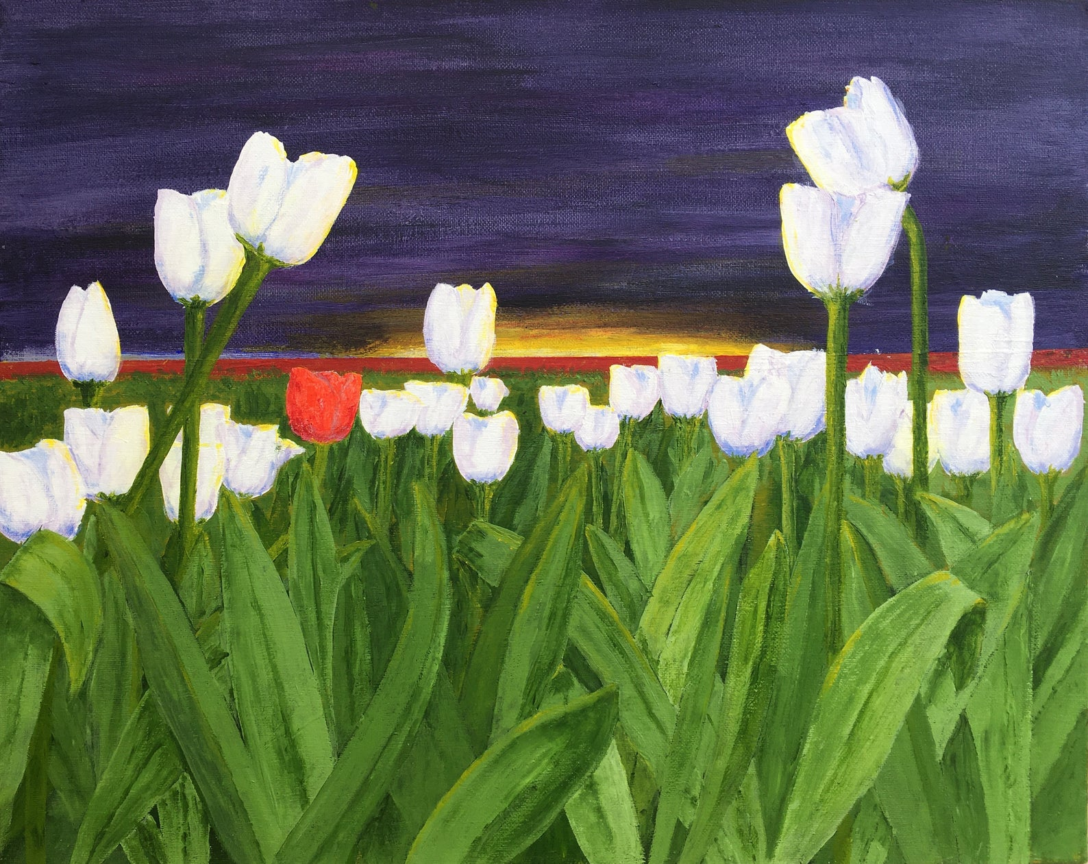 Tulips at Dawn Painting - Fine Art Prints
